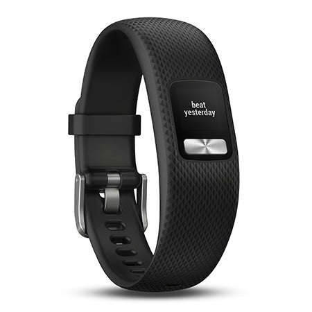 Garmin Vivofit 4 Fitness and Activity Tracker with 1 Year Battery Life and Colour Display - Medium - Black
