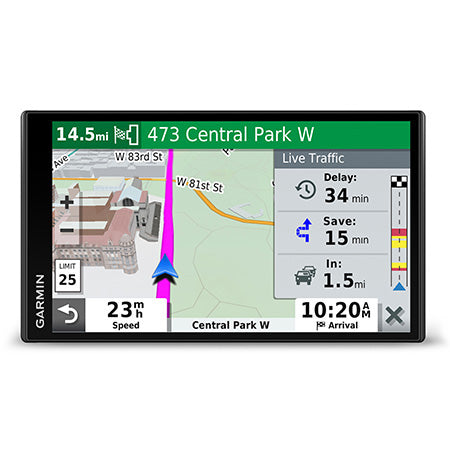 Garmin DriveSmart 65 Voice Command GPS with 6.95-in Display and Traffic Alerts - Black
