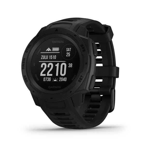Garmin Instinct Rugged GPS Smartwatch and Fitness Tracker Tactical Edition - Black