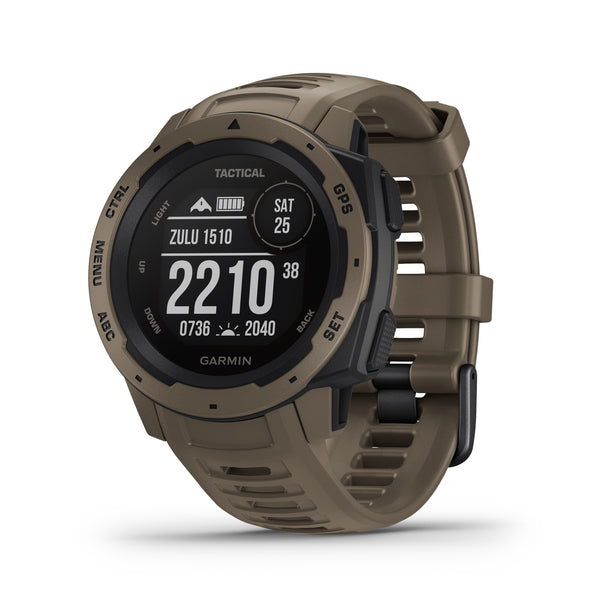 Garmin Instinct Rugged GPS Smartwatch and Fitness Tracker Tactical Edition - Tan