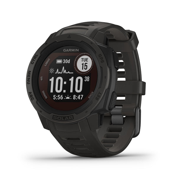 Garmin Instinct Rugged GPS Smartwatch and Fitness Tracker with Solar Charging - Grey