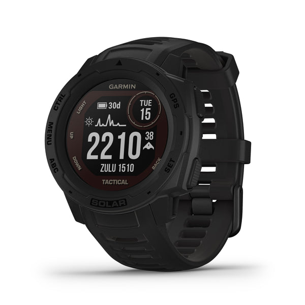 Garmin Instinct Rugged GPS Smartwatch and Fitness Tracker Tactical Edition with Solar Charging - Black