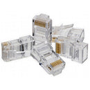 Vertical Cable Cat5e RJ45 Connectors - 100 Pack - Clear