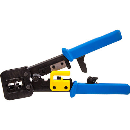 Vertical Cable Crimp Tool For RJ45 Feed-Through Plug - Black
