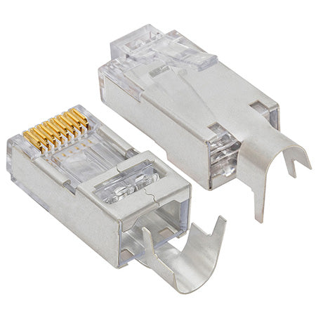 Platinum Tools EZ-RJ45 Shielded CAT5e & Cat6 Connector with External Ground - 10-pack