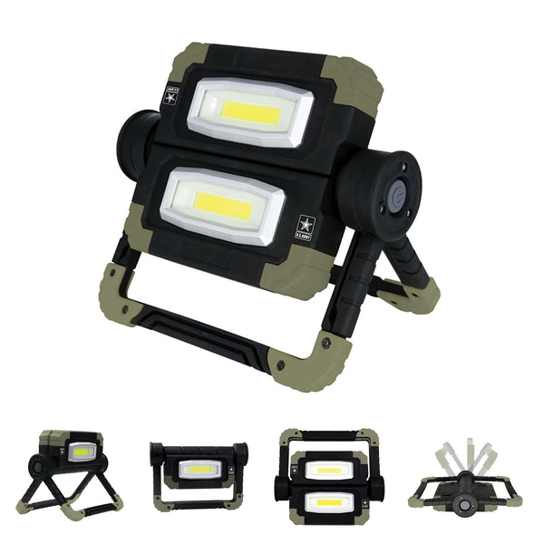 U.S. Army Folding Dual LED Work Light