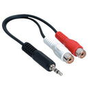 Speedex 3.5-mm Male to 2 RCA Female Y Cable - Black