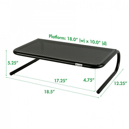 Allsop Metal Art Monitor Stand with 18-in Wide Platform - Black - Open Box