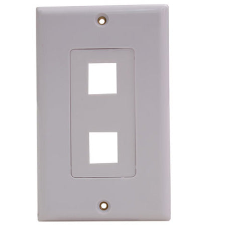 Vertical Cable 2-port Keystone Insert Decora Wall Plate