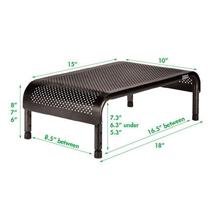 Allsop Metal Art Ergo3 Adjustable Monitor Stand with 15-in Wide Platform - Black - Open Box