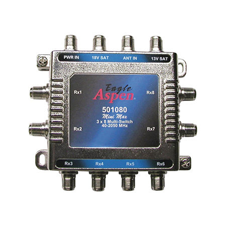 Eagle Aspen 3x8 Satellite Multi Switch with Power Supply Port