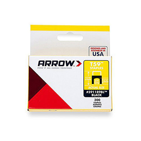 Arrow 1/4-in (6mm) by 1/4-in (6mm) Black Insulated Staples, 300 Staples