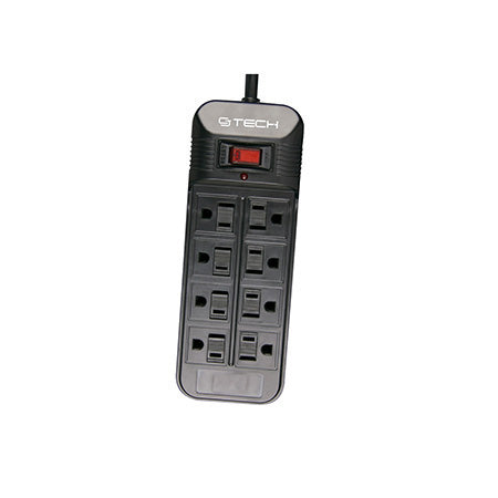 CJ Tech 8 Outlet Surge Protector 1500-joules - Open Box