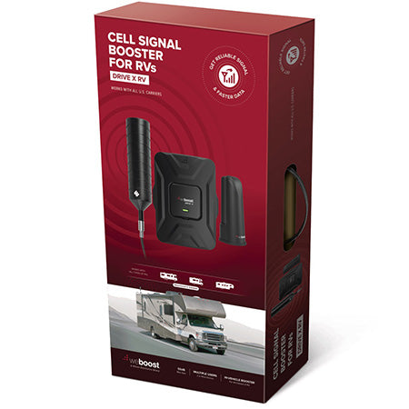 weBoost Drive X RV Cellular Phone Signal Booster Kit - Black