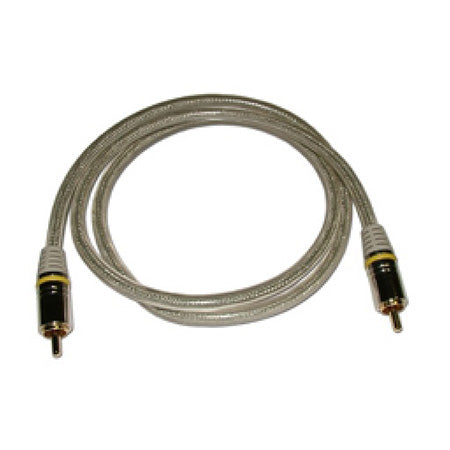 HomeWorx HQ Premium Single Male to Male RCA Cable with Gold Plated Contacts - 1.8-meter (6-ft) - Grey