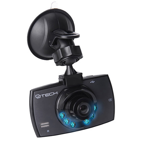 CJ Tech 720p Wireless Video Dash Camera with Automatic Incident Detection - Black - Open Box