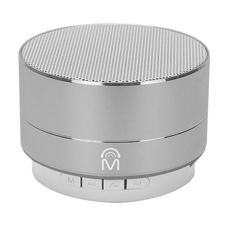 M Urban Portable Aluminum Bluetooth Speaker with LED Lights & Hands-Free Calling - Silver