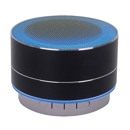 M Urban Portable Aluminum Bluetooth Speaker with LED Lights & Hands-Free Calling - Black