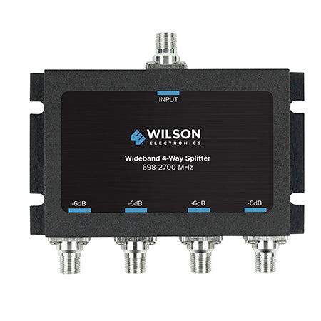 Wilson 75-ohm 4-way Coax Cable Splitter - Black