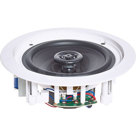 AA Electronics 20.3-cm (8-in) 2-Way In-Ceiling Speaker with Polymer Tweeter - Must Be Ordered in Pairs - White