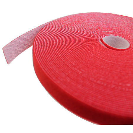 Eclipse 19.mm (3/4-in) Wide Hook and Loop Tape 15.2-meter (50-ft) - Red