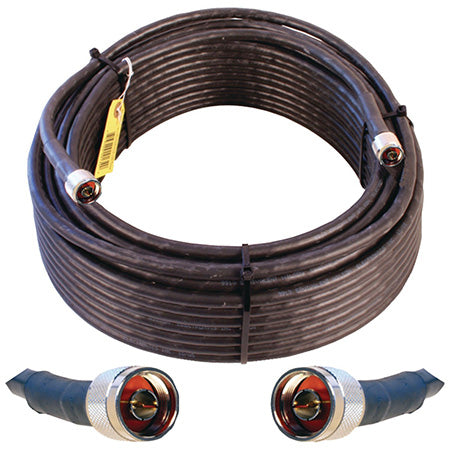 Wilson Ultra Low Loss N-Male 30-meter (100-ft) Coax Cable - Black