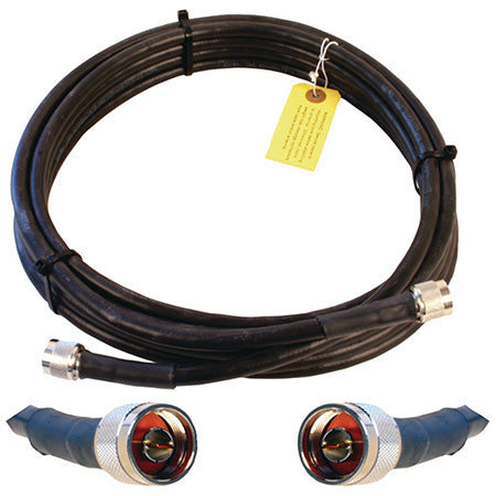 Wilson Ultra Low Loss N-Male 6.1-meter (20-ft) Coax Cable - Black