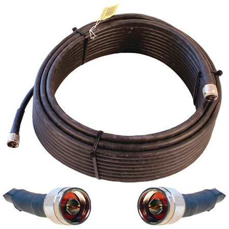 Wilson Ultra Low Loss N-Male 18.2-meter (60-ft) Coax Cable - Black