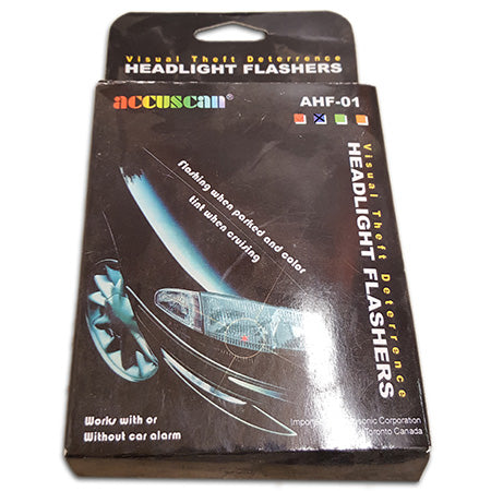 Accuscan Visual Theft Deterrence Headlight Flashers -Blue
