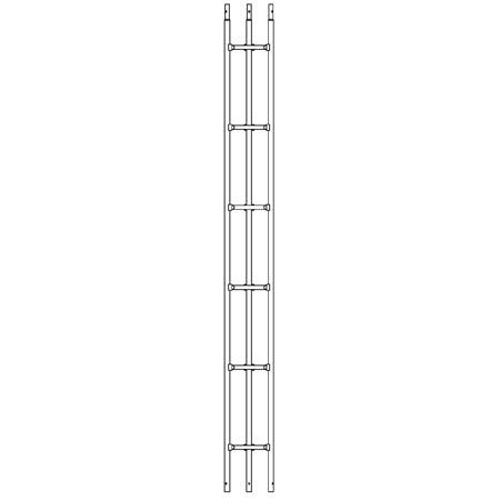 SureConX 3-meter (10-ft) 18-gauge Heavy Duty Double Weld Tubular Tower Straight Section