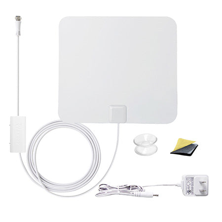 ANTOP Paper Thin Smartpass Amplified 80-km (50-mile) Indoor HDTV Antenna - White