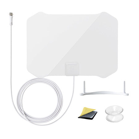 ANTOP Paper Thin Indoor HDTV Antenna 56-km (35-mile) with Table Stand - White