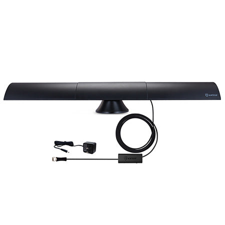 ANTOP Clearbar Smartpass Amplified 104-km (65-mile) Indoor HDTV Antenna - Black