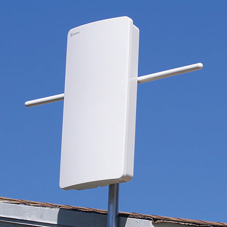 ANTOP Big Boy Flat-panel Smartpass Amplified 128-km (80-mile) Outdoor HDTV Antenna - White