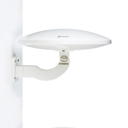 ANTOP UFO Smartpass Amplified 104-km (65-mile) Outdoor HDTV Antenna - White
