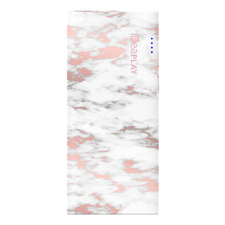 iDeaPLAY 10,000-mAh Power Bank for Phones and Tablets - Pattern Marble