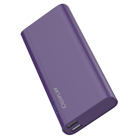 iDeaPLAY 10,000-mAh Power Bank for Phones and Tablets - Purple