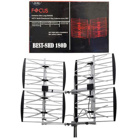 Focus Antennas Best 8 Bay Multi-Directional Outdoor 112-km (70-mile) OTA Antenna