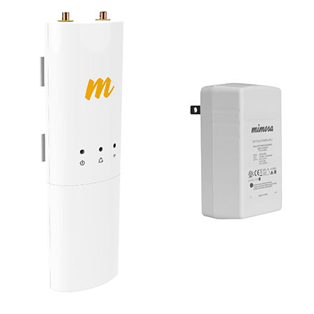 Mimosa C5c 5-GHz 500-Mbps 2x2:2 MIMO Point to Point/Point to Multi Point Connectorized Client Radio with Gigabit 56-volt Passive PoE Wall Plug