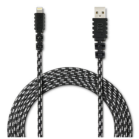 CAT 3-meter (10-ft) Certified Lightening  to USB Charging/Syncing Cable - Black
