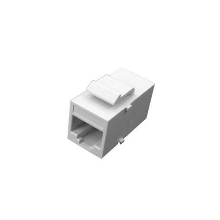 HomeWorx Cat5e Inline Coupler with Keystone Latch - White