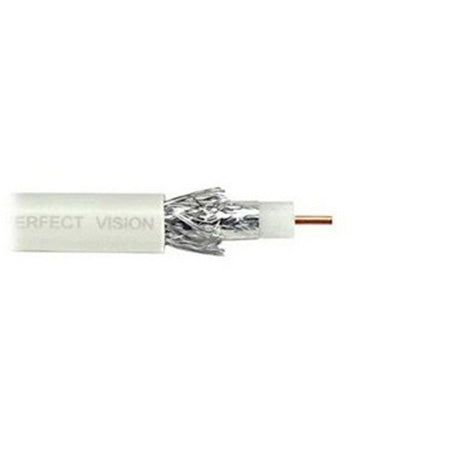 Perfect Vision Coax RG6 Solid Copper 1000-ft (White)