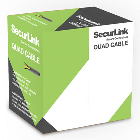 SecurLink CBL-QUAD-1000B Station Z FT4 22 AWG 4 Conductor 1000-ft Quad Cable (Brown)