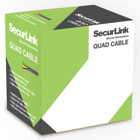 SecurLink CBL-QUAD-1000W Station Z FT4 22 AWG 4 Conductor 1000-ft Quad Cable
