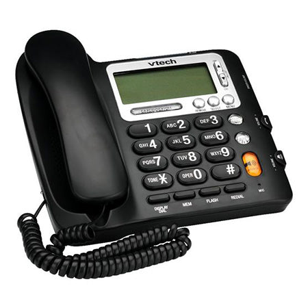 Vtech Corded Phone with Caller ID - Black