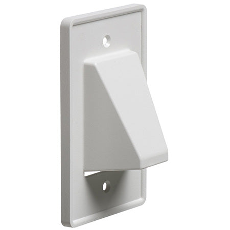 Arlington Scoop Reversible Low-Voltage Single Gang Cable Entrance Plate - White