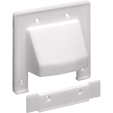 Arlington Dual Gang Reversible Two-Piece Low-Voltage Cable Entrance Plate - White