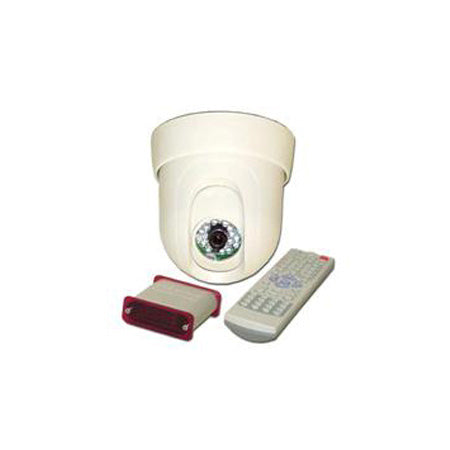 Choice Select Pan/Tilt Dome Security Camera with Remote Control - White