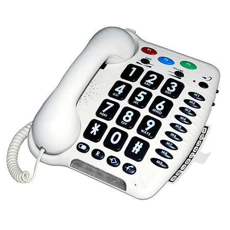Geemarc Amplified Big Button Phone - White - Open Box