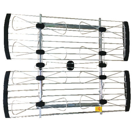 ClearConX Outdoor UHF 8-Bay Bow Tie Omnidirectional 128-km (80-mile) Antenna - Highest Quality